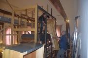 Aangeven en aanpakken van de kap op de middentoren.